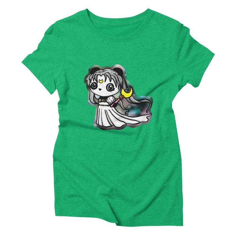 Princess Panda Serenity Women's Triblend T-Shirt by Dino & Panda Inc Artist Shop
