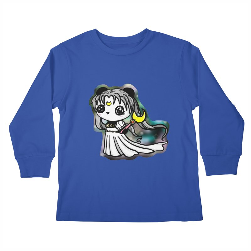 Princess Panda Serenity Kids Longsleeve T-Shirt by Dino & Panda Inc Artist Shop