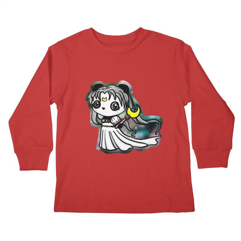 Princess Panda Serenity Kids Longsleeve T-Shirt by Dino & Panda Inc Artist Shop