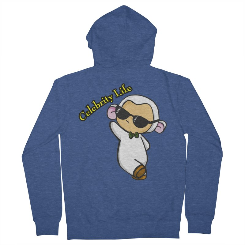 Celebrity Lambie Men's French Terry Zip-Up Hoody by Dino & Panda Inc Artist Shop