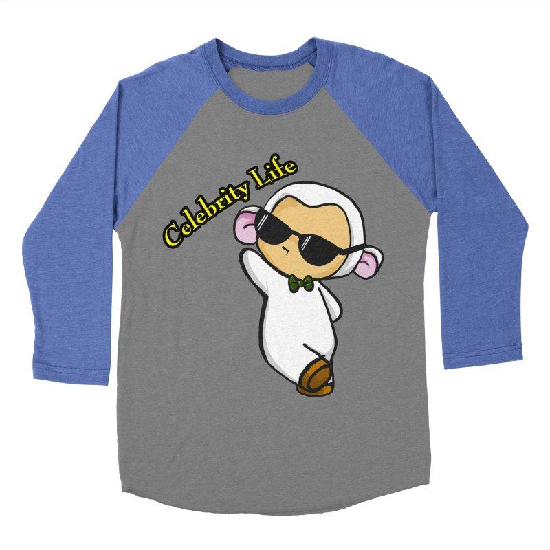 Celebrity Lambie Men's Baseball Triblend Longsleeve T-Shirt by Dino & Panda Inc Artist Shop