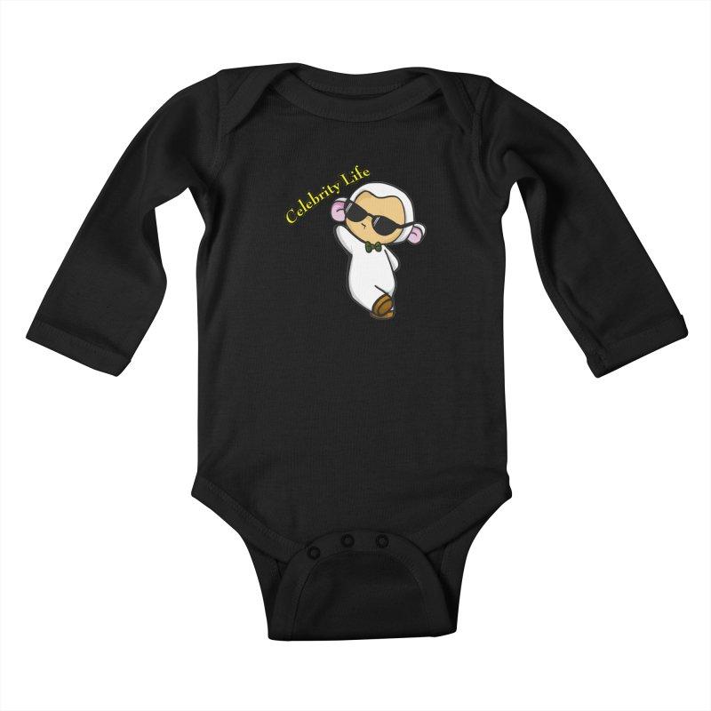 Celebrity Lambie Kids Baby Longsleeve Bodysuit by Dino & Panda Inc Artist Shop