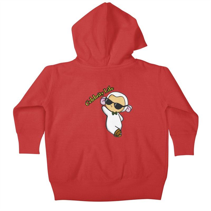 Celebrity Lambie Kids Baby Zip-Up Hoody by Dino & Panda Inc Artist Shop
