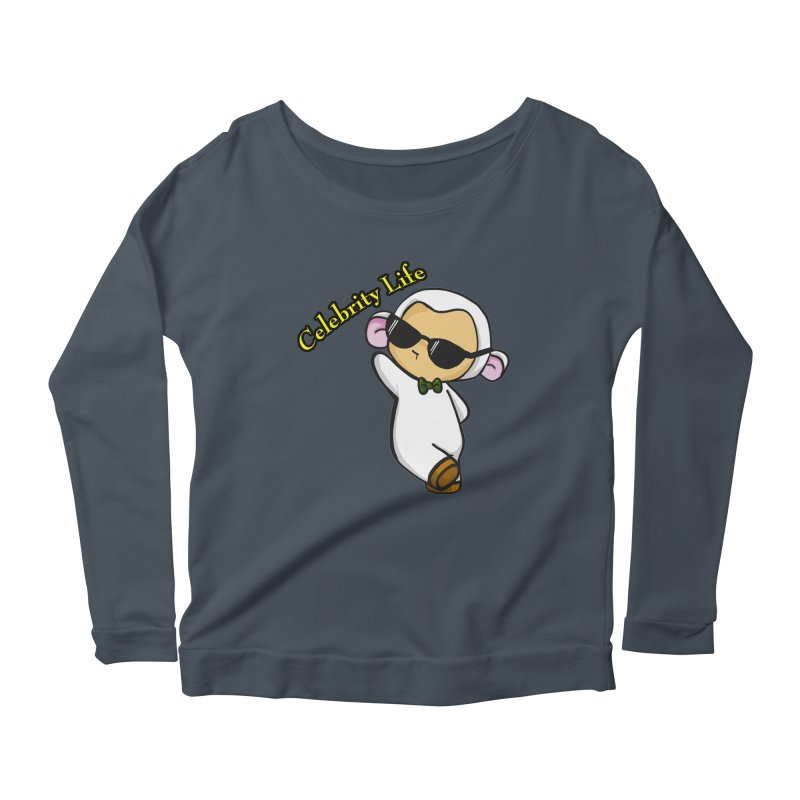 Celebrity Lambie Women's Longsleeve Scoopneck  by Dino & Panda Inc Artist Shop