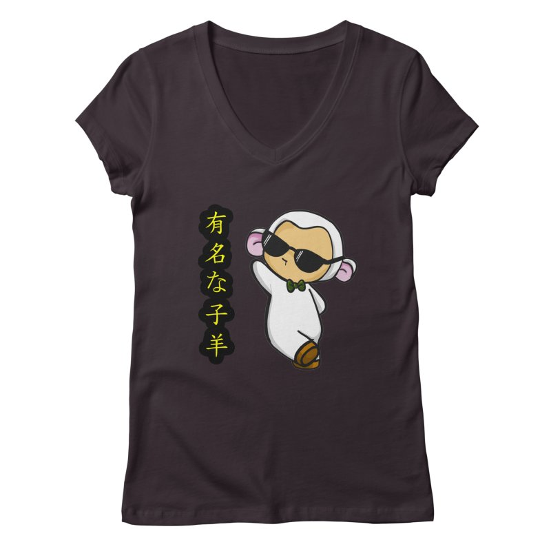 Celebrity Lambie (Japanese) Women's V-Neck by Dino & Panda Inc Artist Shop