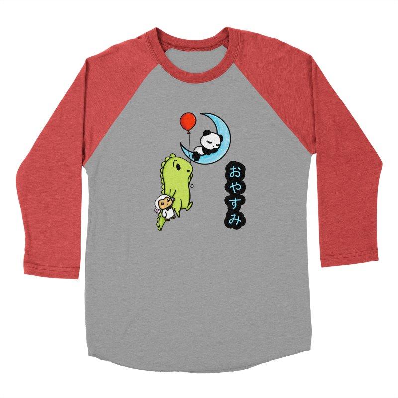 Sleepy Panda- Oyasumi Men's Longsleeve T-Shirt by Dino & Panda Artist Shop