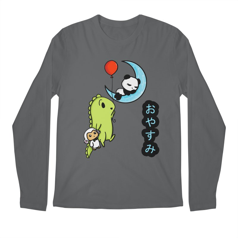 Sleepy Panda- Oyasumi Men's Regular Longsleeve T-Shirt by Dino & Panda Inc Artist Shop