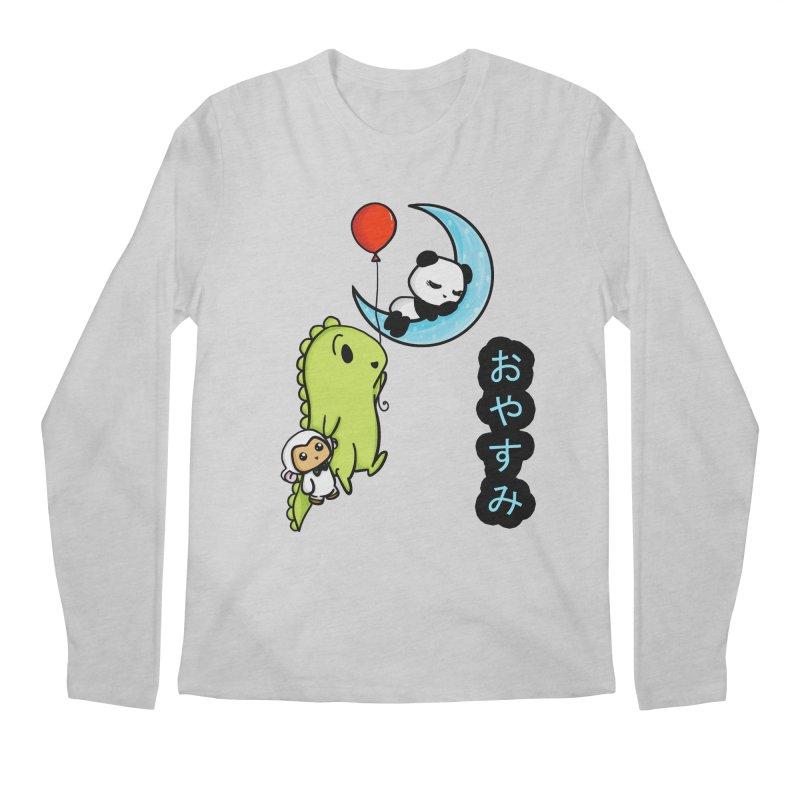 Sleepy Panda- Oyasumi Men's Longsleeve T-Shirt by Dino & Panda Inc Artist Shop