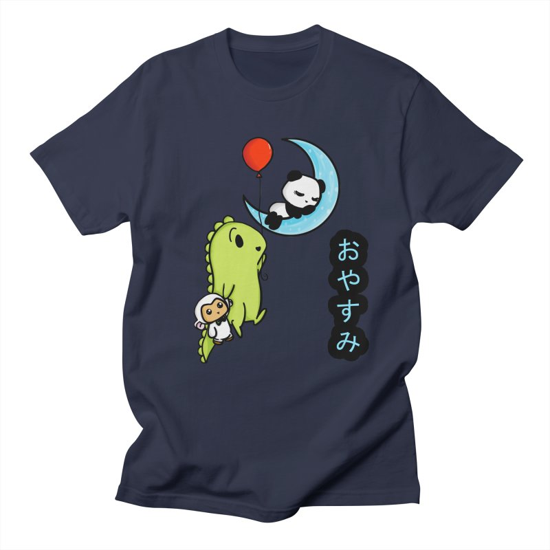 Sleepy Panda- Oyasumi Men's Regular T-Shirt by Dino & Panda Inc Artist Shop
