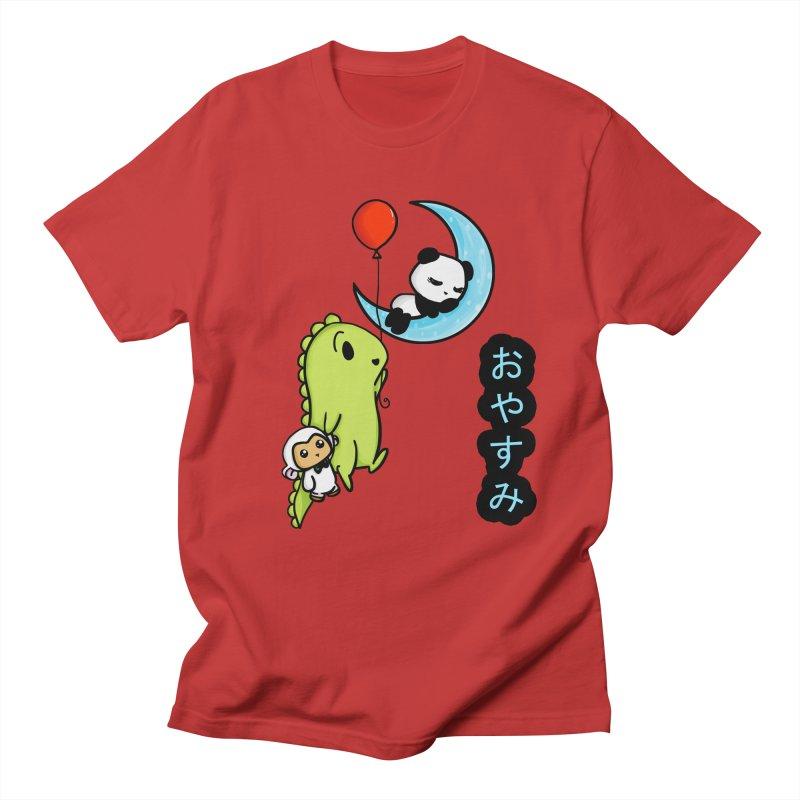 Sleepy Panda- Oyasumi Men's T-shirt by Dino & Panda Inc Artist Shop