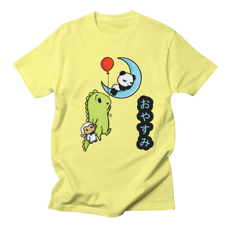 Sleepy Panda- Oyasumi Women's Regular Unisex T-Shirt by Dino & Panda Inc Artist Shop