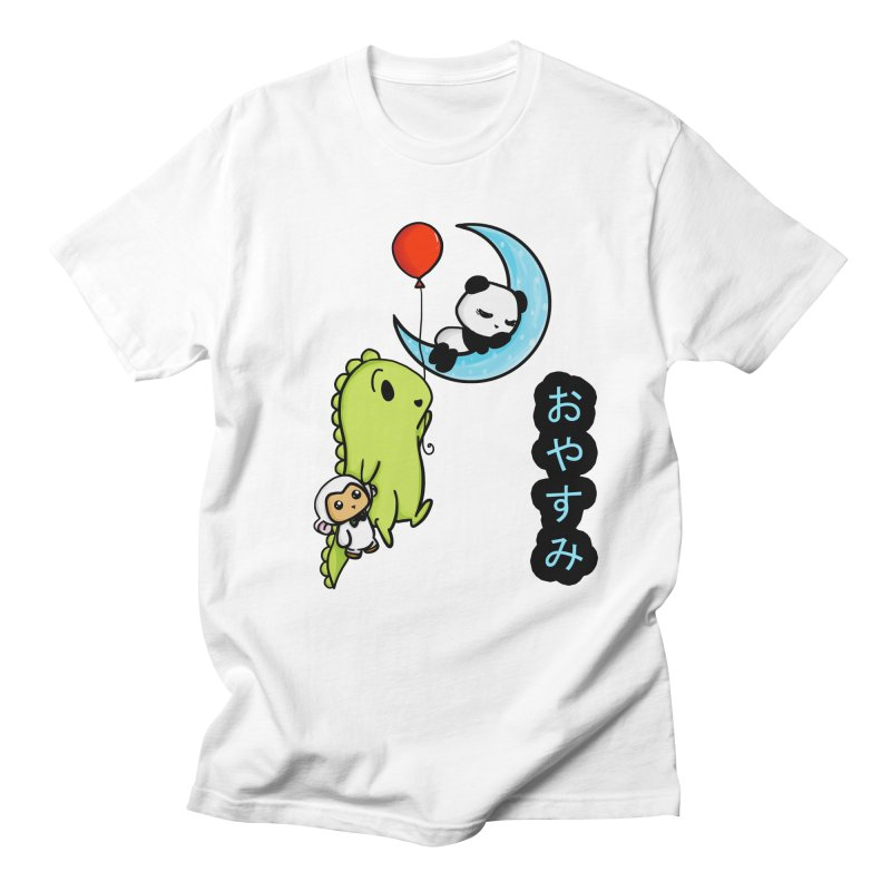 Sleepy Panda- Oyasumi Men's Regular T-Shirt by Dino & Panda Inc Artist Shop