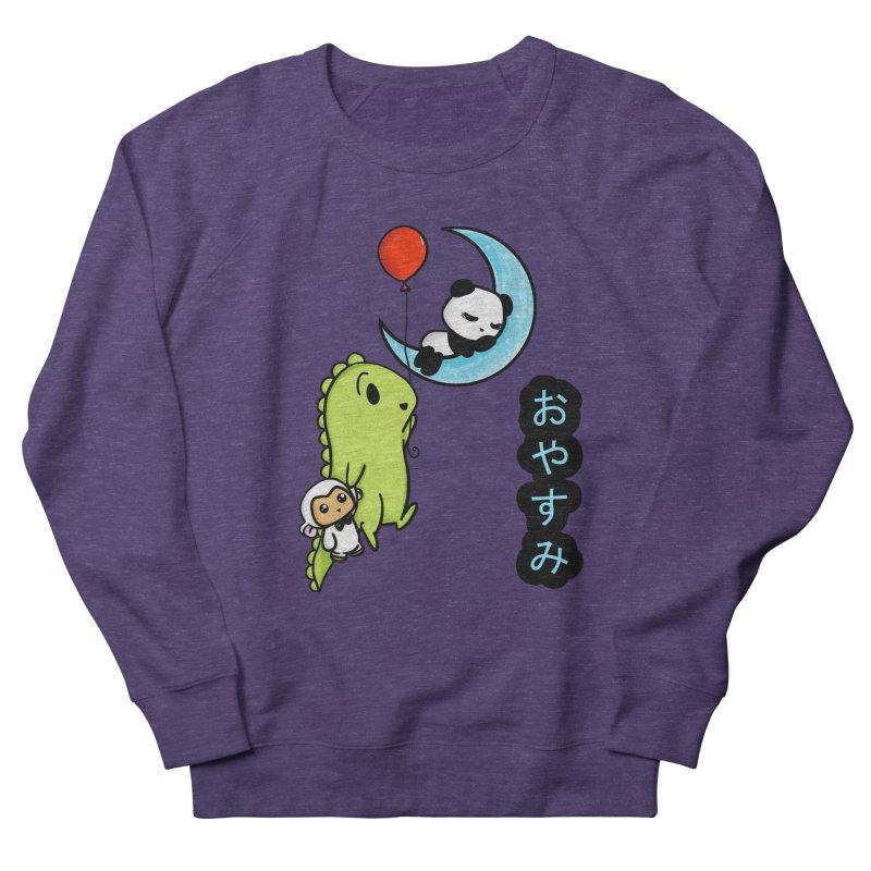 Sleepy Panda- Oyasumi Women's French Terry Sweatshirt by Dino & Panda Inc Artist Shop