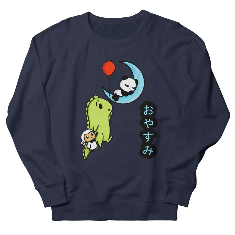 Sleepy Panda- Oyasumi Women's French Terry Sweatshirt by Dino & Panda Inc Artist Shop