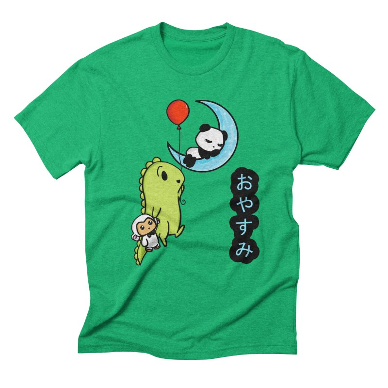 Sleepy Panda- Oyasumi Men's Triblend T-Shirt by Dino & Panda Inc Artist Shop