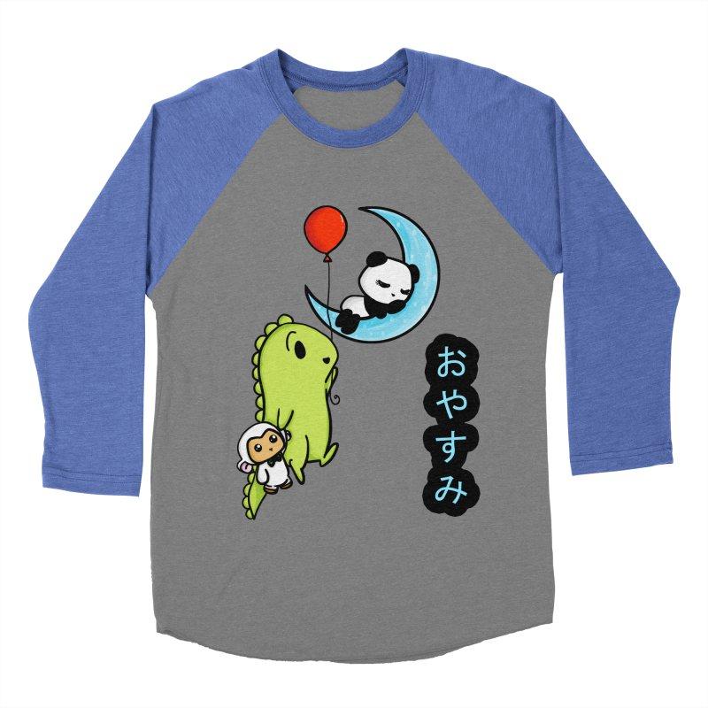 Sleepy Panda- Oyasumi Women's Baseball Triblend T-Shirt by Dino & Panda Inc Artist Shop