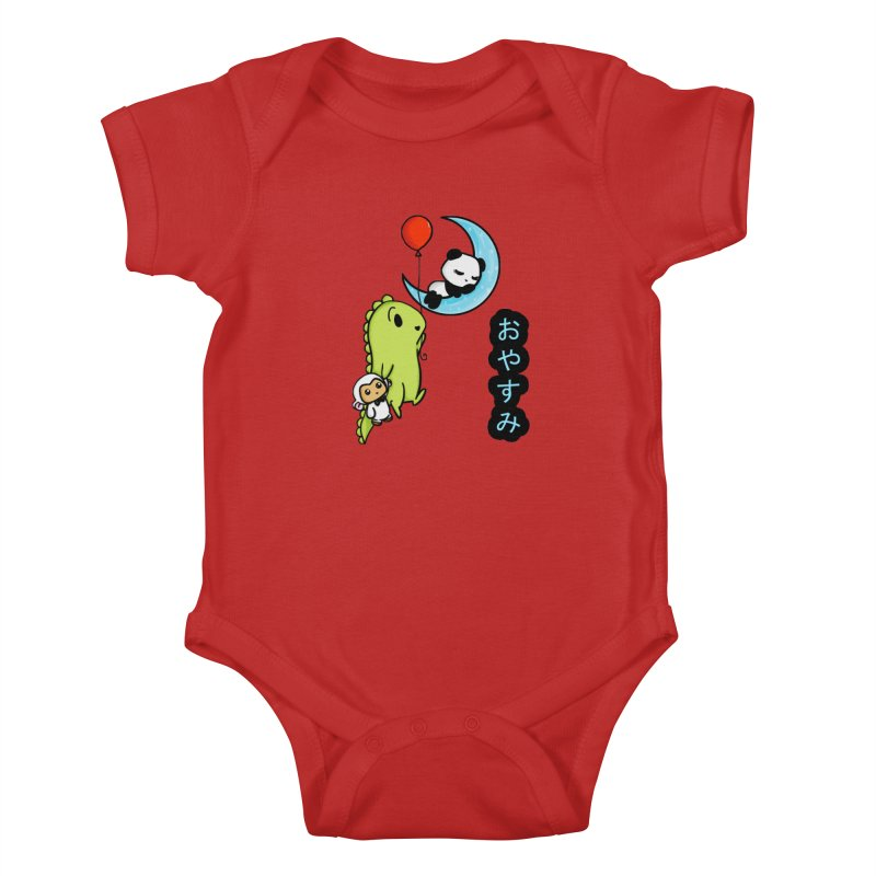 Sleepy Panda- Oyasumi Kids Baby Bodysuit by Dino & Panda Inc Artist Shop