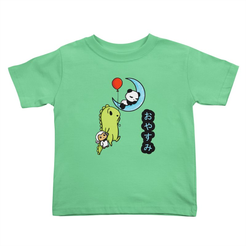 Sleepy Panda- Oyasumi Kids Toddler T-Shirt by Dino & Panda Inc Artist Shop