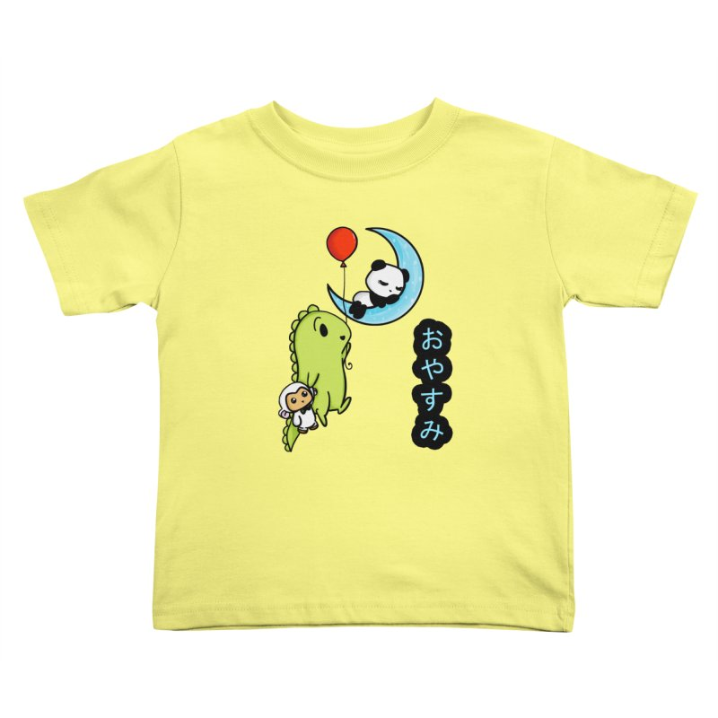 Sleepy Panda- Oyasumi Kids Toddler T-Shirt by Dino & Panda Inc Artist Shop