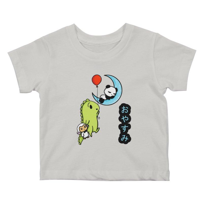 Sleepy Panda- Oyasumi Kids Baby T-Shirt by Dino & Panda Inc Artist Shop