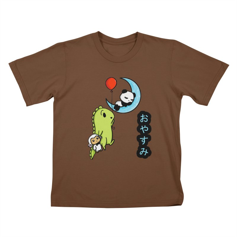 Sleepy Panda- Oyasumi Kids T-Shirt by Dino & Panda Inc Artist Shop