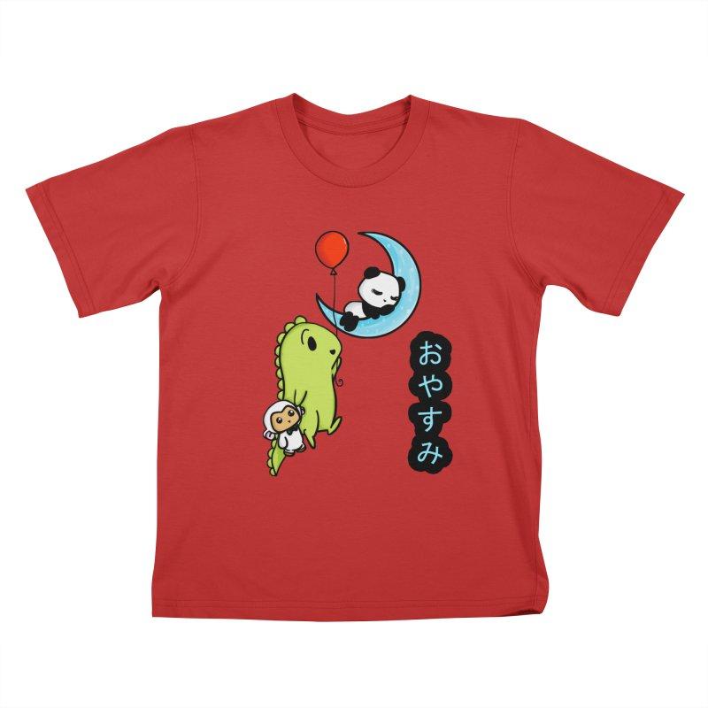 Sleepy Panda- Oyasumi Kids T-Shirt by Dino & Panda Inc Artist Shop