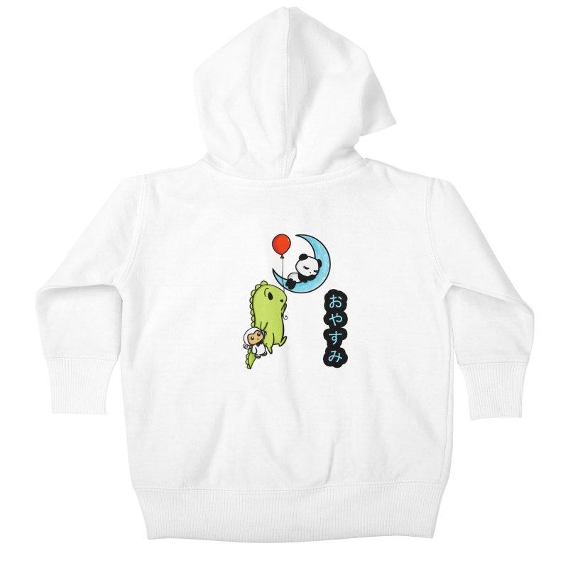 Sleepy Panda- Oyasumi Kids Baby Zip-Up Hoody by Dino & Panda Inc Artist Shop