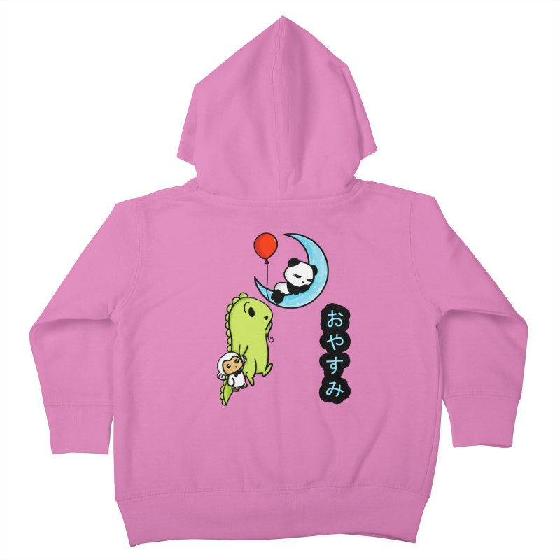 Sleepy Panda- Oyasumi Kids Toddler Zip-Up Hoody by Dino & Panda Inc Artist Shop