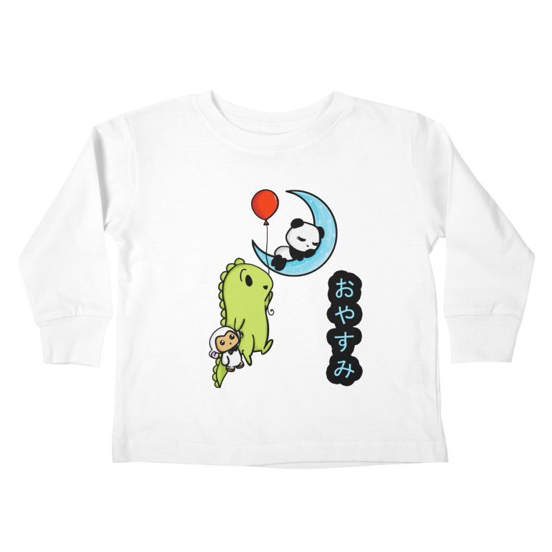 Sleepy Panda- Oyasumi Kids Toddler Longsleeve T-Shirt by Dino & Panda Inc Artist Shop