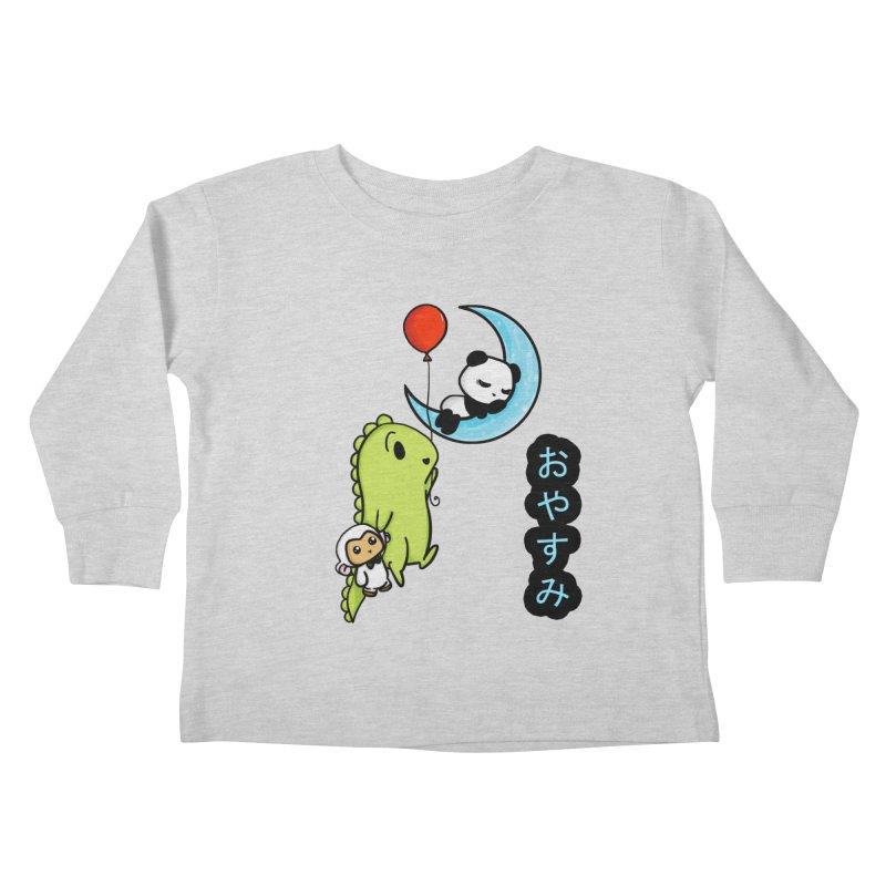Sleepy Panda- Oyasumi Kids Toddler Longsleeve T-Shirt by Dino & Panda Inc Artist Shop