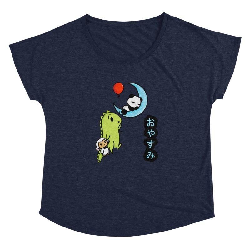 Sleepy Panda- Oyasumi Women's Dolman Scoop Neck by Dino & Panda Inc Artist Shop
