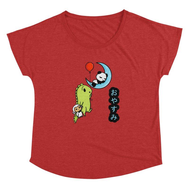 Sleepy Panda- Oyasumi Women's Dolman by Dino & Panda Inc Artist Shop