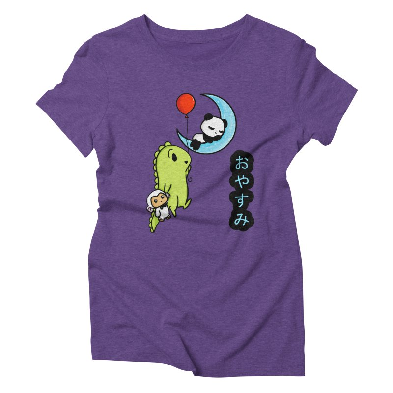 Sleepy Panda- Oyasumi Women's Triblend T-Shirt by Dino & Panda Inc Artist Shop