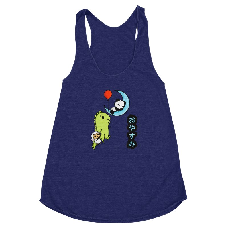 Sleepy Panda- Oyasumi Women's Racerback Triblend Tank by Dino & Panda Inc Artist Shop