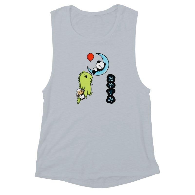 Sleepy Panda- Oyasumi Women's Muscle Tank by Dino & Panda Inc Artist Shop