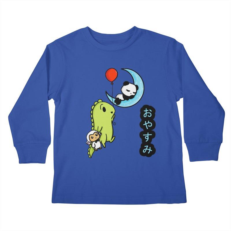 Sleepy Panda- Oyasumi Kids Longsleeve T-Shirt by Dino & Panda Inc Artist Shop