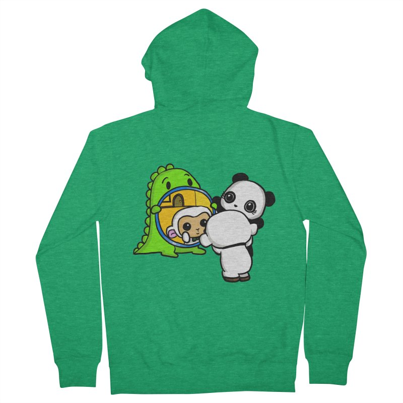 Mirror Mirror Men's French Terry Zip-Up Hoody by Dino & Panda Inc Artist Shop