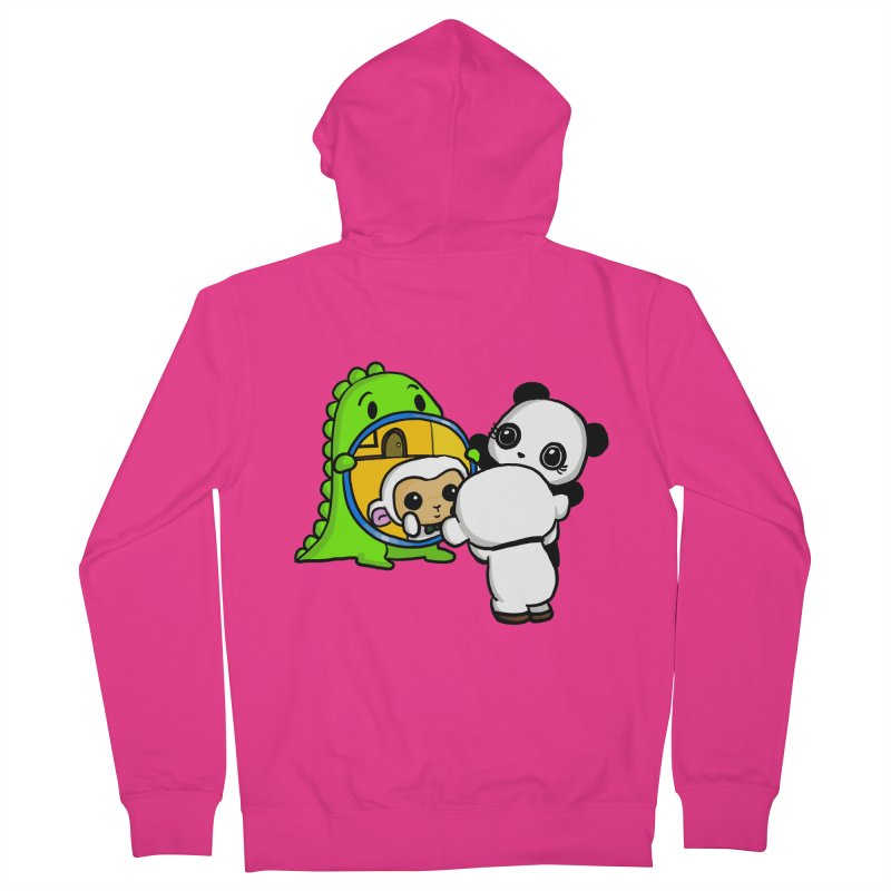 Mirror Mirror Men's Zip-Up Hoody by Dino & Panda Inc Artist Shop