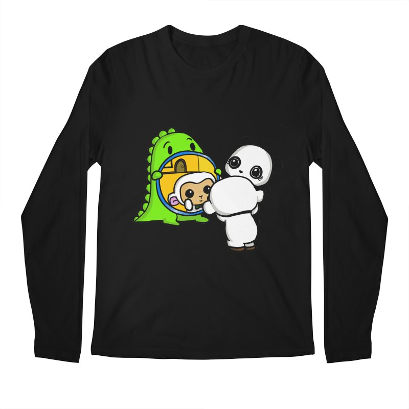 Mirror Mirror Men's Regular Longsleeve T-Shirt by Dino & Panda Inc Artist Shop