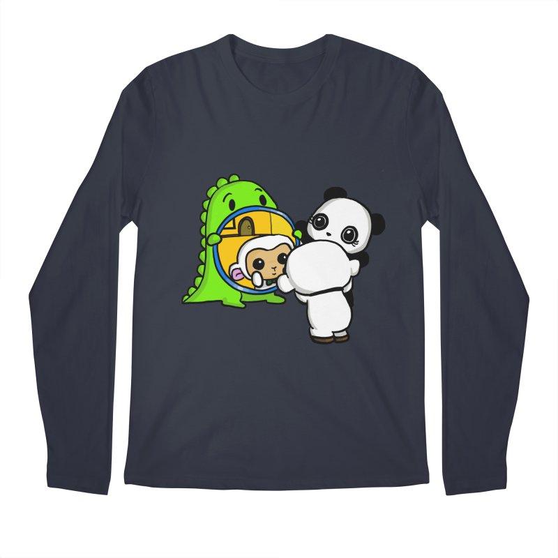 Mirror Mirror Men's Regular Longsleeve T-Shirt by Dino & Panda Inc Artist Shop