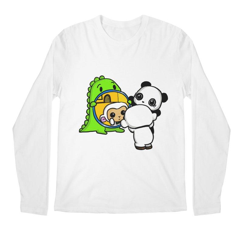 Mirror Mirror Men's Longsleeve T-Shirt by Dino & Panda Inc Artist Shop