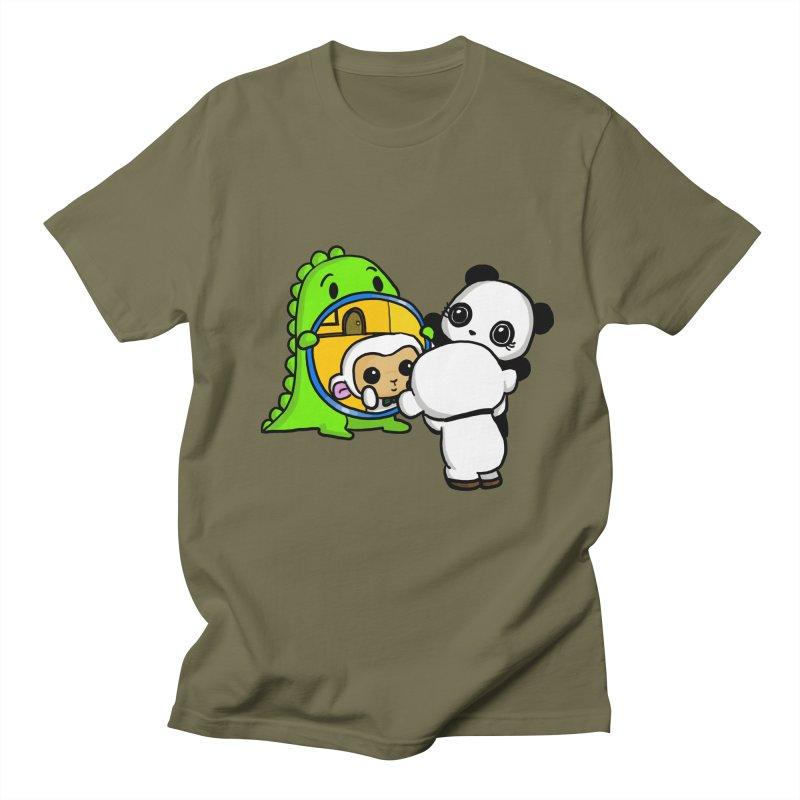 Mirror Mirror Men's T-Shirt by Dino & Panda Inc Artist Shop