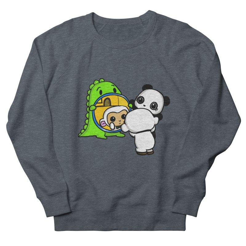 Mirror Mirror Men's French Terry Sweatshirt by Dino & Panda Inc Artist Shop