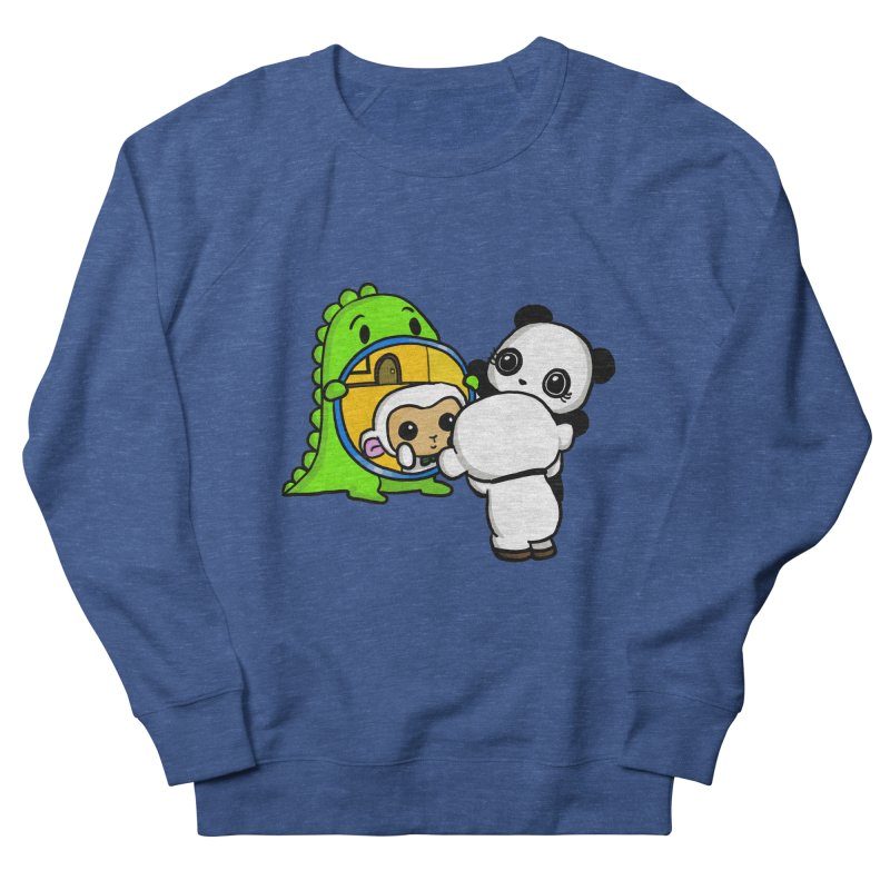 Mirror Mirror Men's French Terry Sweatshirt by Dino & Panda Inc Artist Shop