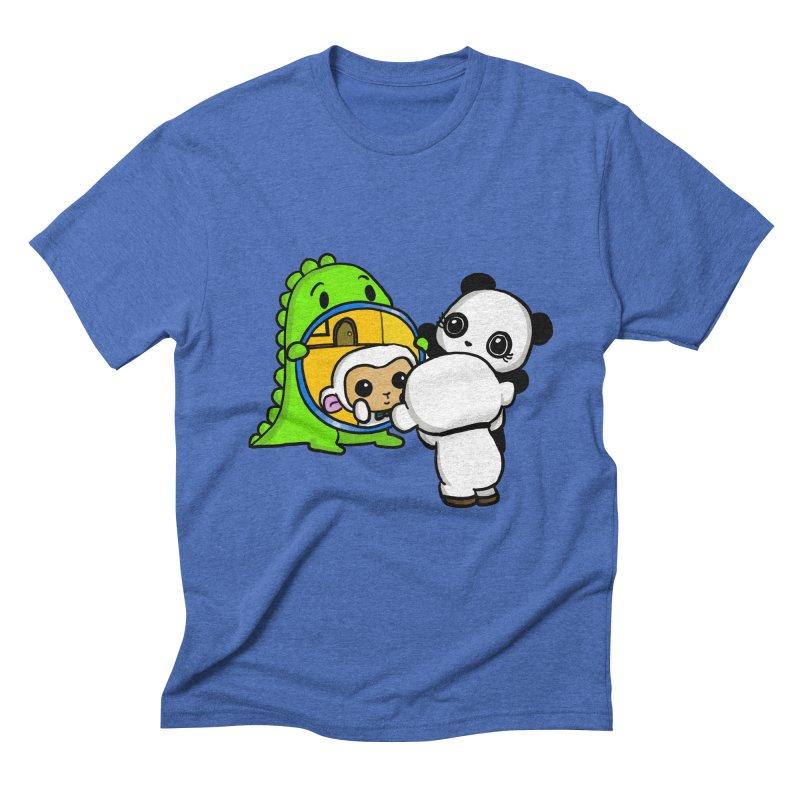 Mirror Mirror Men's Triblend T-Shirt by Dino & Panda Inc Artist Shop