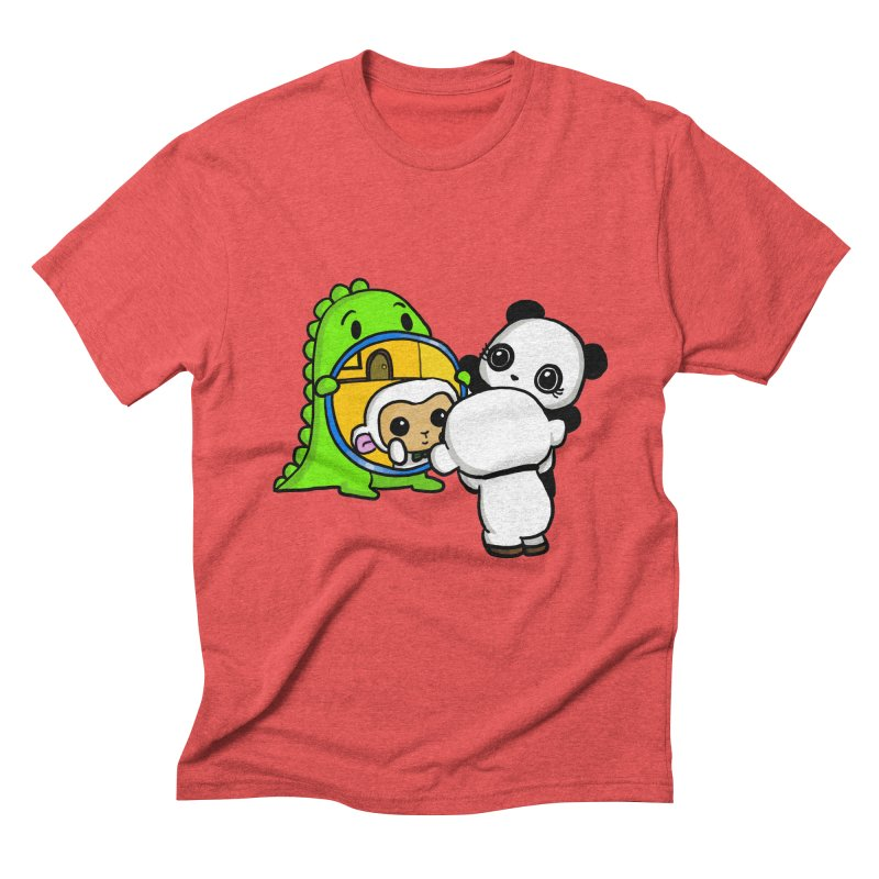 Mirror Mirror Men's Triblend T-Shirt by Dino & Panda Inc Artist Shop