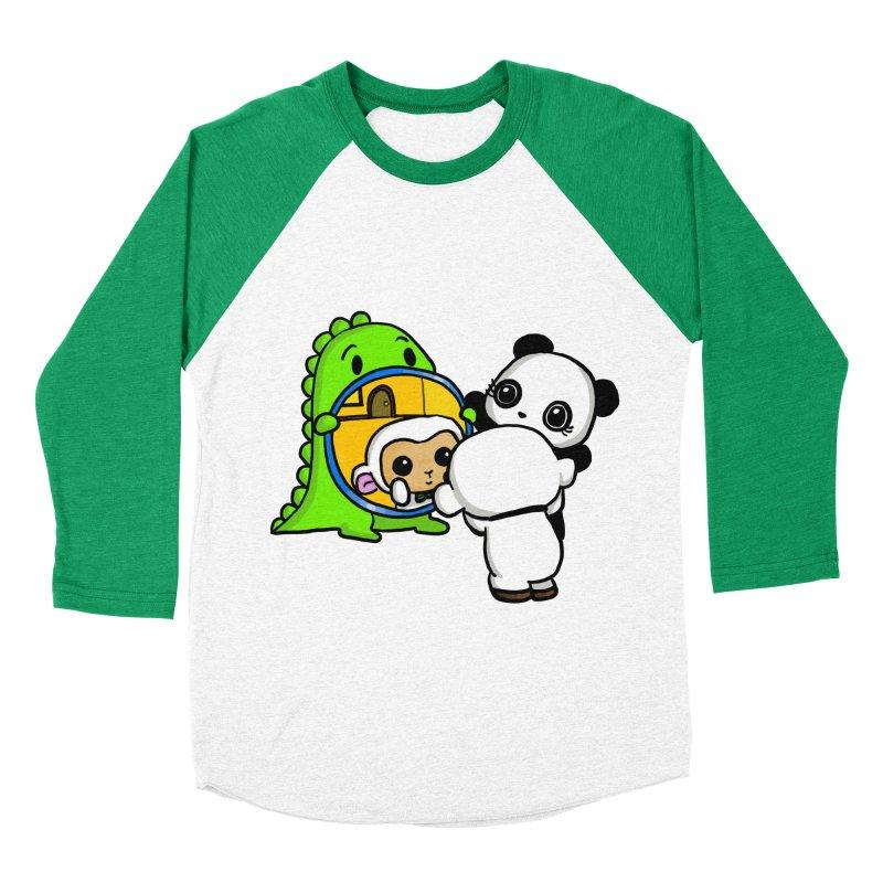 Mirror Mirror Women's Baseball Triblend Longsleeve T-Shirt by Dino & Panda Inc Artist Shop