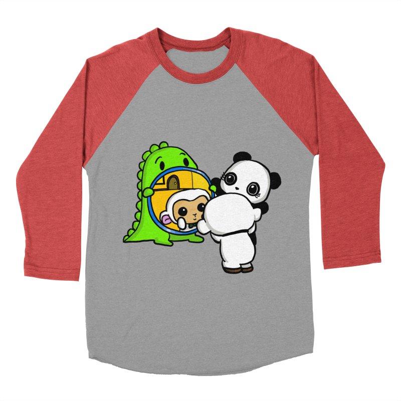 Mirror Mirror Men's Baseball Triblend Longsleeve T-Shirt by Dino & Panda Inc Artist Shop