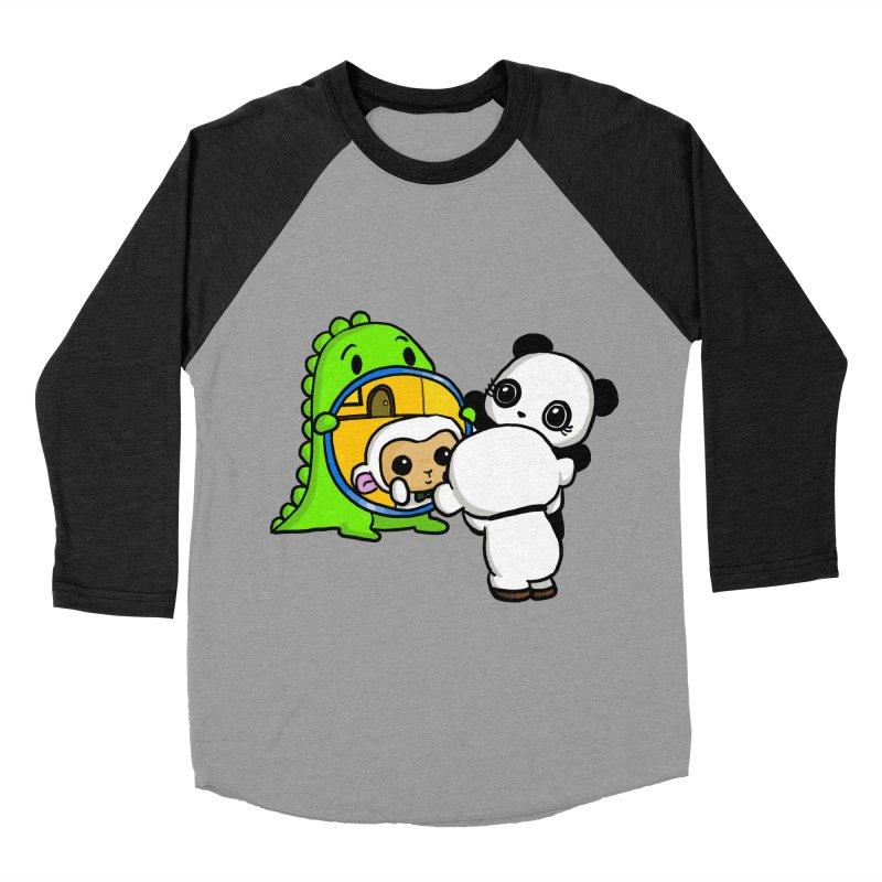 Mirror Mirror Men's Baseball Triblend T-Shirt by Dino & Panda Inc Artist Shop