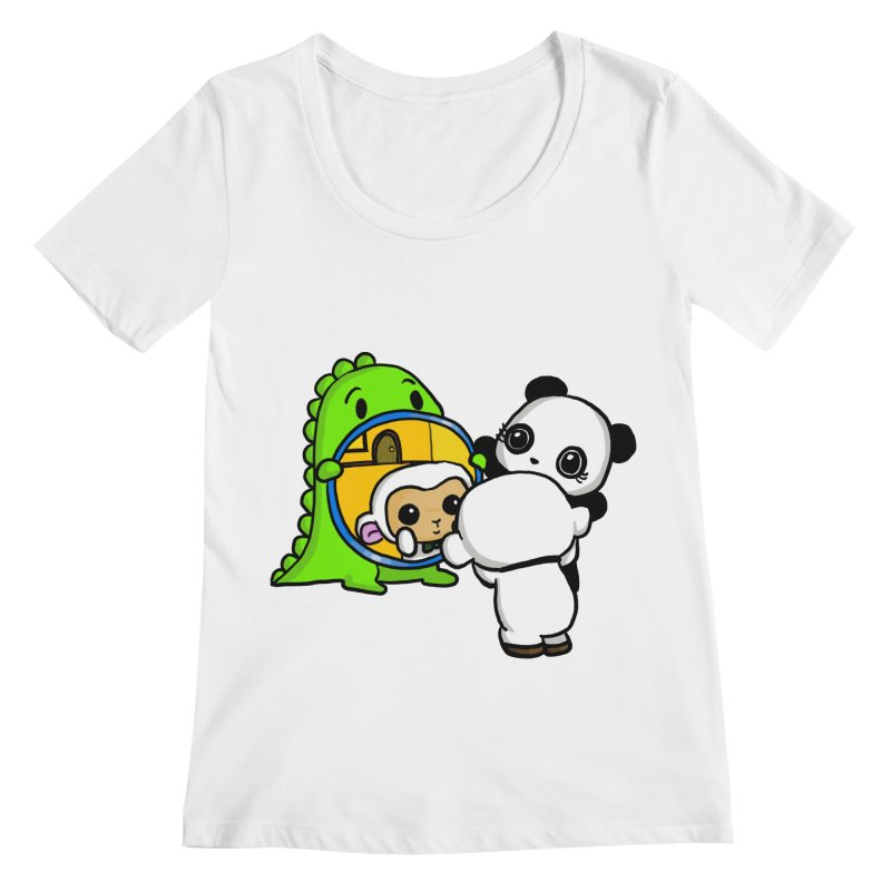 Mirror Mirror Women's Regular Scoop Neck by Dino & Panda Inc Artist Shop